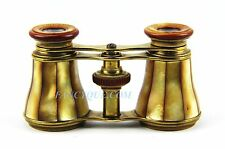 ANTIQUE FRENCH OPERA GLASSES GOLDEN MOTHER OF PEARL # 188 PARIS