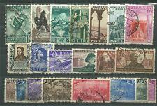 ITALIA 21 FRANCOBOLLI DIVERSI USATI PERIODO 1948 - 1955 ALTO VALORE CATALOGO
