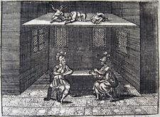 Roma: spie del Tiberio, originale-rame chiave 1693 SPIA SPY SPIA