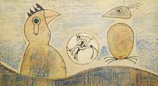 "MAX ERNST "" OISEAUX"" 1975 SIGNED lim.Ed 1500 ORIGINAL LITHOGRAPH Dada Surrealism"