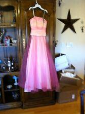 de Laru collection  pink formal dress prom gown  3/4
