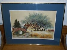 Framed Lithograph Print - Artist Signed - House by Stream - Jeremy King 288/375