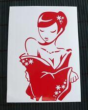adesivo GEISHA auto moto sticker decal vynil vinile ritagliato woman japan donna