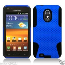 SAMSUNG GALAXY S II 2 SPRINT D710 R760 EPIC TOUCH 4G MESH HYBRID CASE BLUE