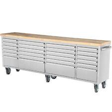 96'' Thor 24 Drawers Anti-fingerprint Stainless Steel Tool Box Work Bench