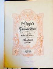 Antique Frederick Choplin Pianoforte Werke Herrmann Scholts Preludes Rondos 1896