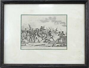 8663020 Stahlstich-Abzug Masson, Combat de Torfou 29x22cm