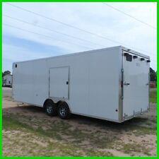 8.5x24 Black cargo enclosed car hauler motorcycle Aluminum trailer cabinets New