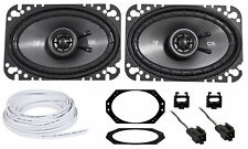 "Kicker CSC 4X6"" Front Factory Speaker + Wire For 1997-2002 Jeep Wrangler Tj"