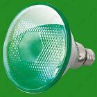 2x 80W PAR38 Green Coloured Halogen Flood Reflector ES E27 Light Bulb Lamp