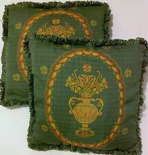 """Set of 2 100% Cotton Decorative Pillows With Inner 18"""" x 18"""""""