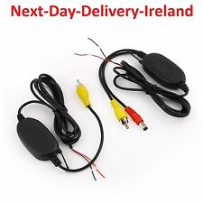 New 2.4G Wireless Transmitter&Receiver for Car Reverse Camera 12V Rear View UK