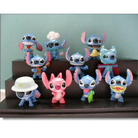 Lilo And Stitch Model Cartoon 10 PCS Action Figure Cake Topper Doll Toy Kid Gift