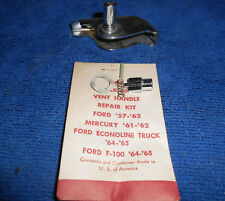 "1957-1958 Ford Full Size Car ""LH - Vent Window Bracket & Handle Shaft Assembly"