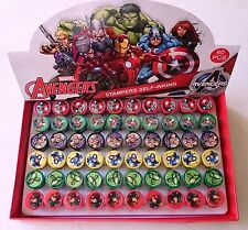 60 pc Marvel Avengers Self Inking Stamper Pencil Topper Display Box Party Favors