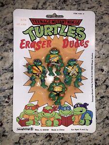 Unopened Vintage TMNT Teenage Mutant Ninja Turtles Eraser Dudes 1989