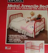 """Metal Juvenile Bed By Ex-Cell Made In Usa 29""""X50"""" New In Box Easy To Assembly"""