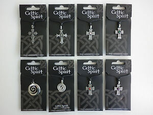 Fine Handcrafted Celtic Spirit Pewter Pendants with adjustable Leather Strap
