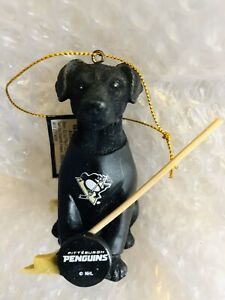 Pittsburgh Penguins Team Dog Ornament NHL Licensed- Black Lab