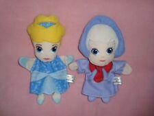 "Hallmark Disney Cinderella and her Fairy Godmother Hand Puppet 10"" Plush Lot"