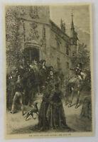 1876 magazine engraving ~ YOUNG CHEVALIER BAYARD