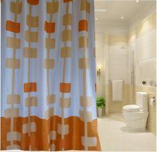 Shades of Orange Pendant Pattern Shower Curtain 2m Long New Free Shipping