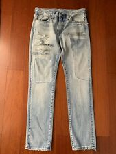 Rare Sample Levis 511 Denim Jeans Sz 32 X 32 New Hand Distressed Straight Leg