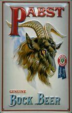 Tôle bouclier pabst Bock Beer bière subtilité geißbock Bouclier Nostalgie bar pub