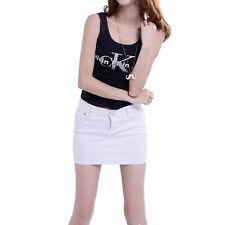 Matching Trendy Mini Candy Color Girls Low Waist Cotton Skirts UK Sz 6-14 White 6