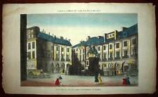 VIEW optical View ON THE PLACE OF VICTOIRES IN PARIS engraving colour 18th
