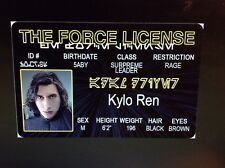 Star Wars the Force Kylo Ren fake Id i.d card Drivers License
