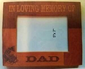 In Loving Memory Of 5x7 picture frame Keepsake Gift Family Friend Laser Engraved