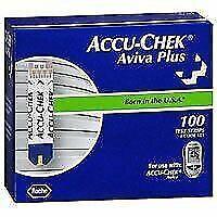 Accu-Chek Aviva Plus 2 Packs of Diabetic Test Strips - 100 Pieces