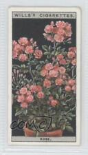 1925 Wills Flower Culture in Pots Tobacco Base #41 Rose Non-Sports Card 1s8