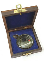 Antique vintage brass compass  maritime  sundial  Nautical Working Compass