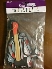 Blood Weapons Garland Gruesome Halloween Decoration Ax Knife Cleaver Sickle 7'