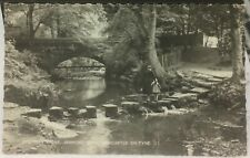 England Stepping Stones Jesmond Den Newcastle on Tyne RPPC - posted 1964