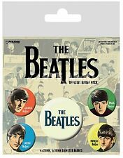 THE BEATLES (groupe) Pack de 5 Rond Broche Badge (PY)