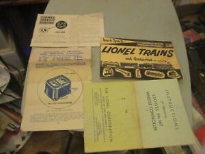 LIONEL 1954,1955 SERVICE STATION LISTING HO W TO OPERATE LIONEL TRAINS 1953 MORE