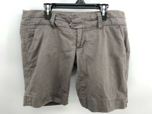 American Eagle Outfitters Womens Khaki Shorts Tan Flat Front Stretch Pockets 34