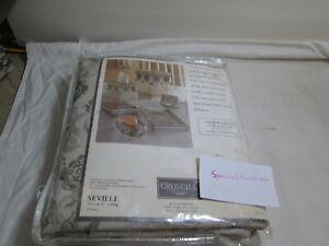 "New Croscill Home SEVILLE Fabric Shower Curtain 72""x75"" Platinum New"