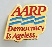 AARP America Group Democracy Is Ageless Pin Badge Rare Vintage (A2)
