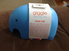 Blue Elephant giggle baby bath shampoo rinse cup protects eyes. Tubby time