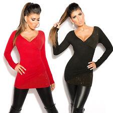 Maglione Donna Lungo MaliziOSA Mini Abito Maglia Pullover Maxipull Moda Fashion