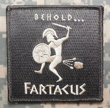 BEHOLD FARTACUS SPARTAN USA ARMY ACU LIGHT VELCRO® BRAND FASTENER PATCH
