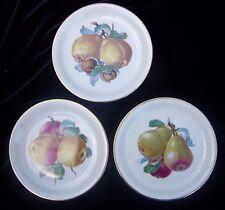3 Rosenthal Fruit Harvest Plates Pear Apple Walnut Selb Plossberg Bavaria Set