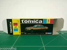 REPRODUCTION BOX for Tomica Black Box No.5 Toyota Soarer 2800GT