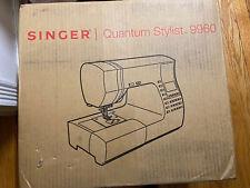 NUOVO Singer 9960 Quantum Stylist Macchina da cucire elettronica-spedizione FedEx USA