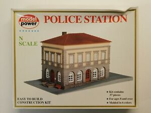 N Scale - Model Power - Police Station Building Structure Kit #1504 NIB
