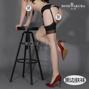 Retro Style 10D Sexy Sheer Back Seam Thigh High Stockings